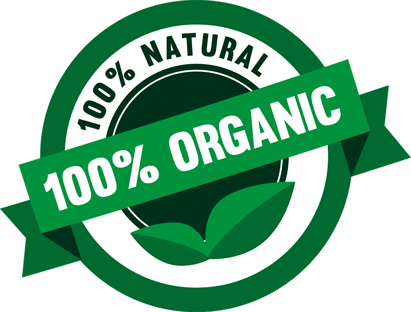 100 organic значок