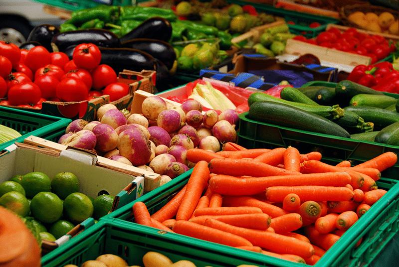 Органические продукты в магазине