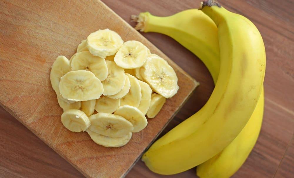 Кусочки бананов для чипсов