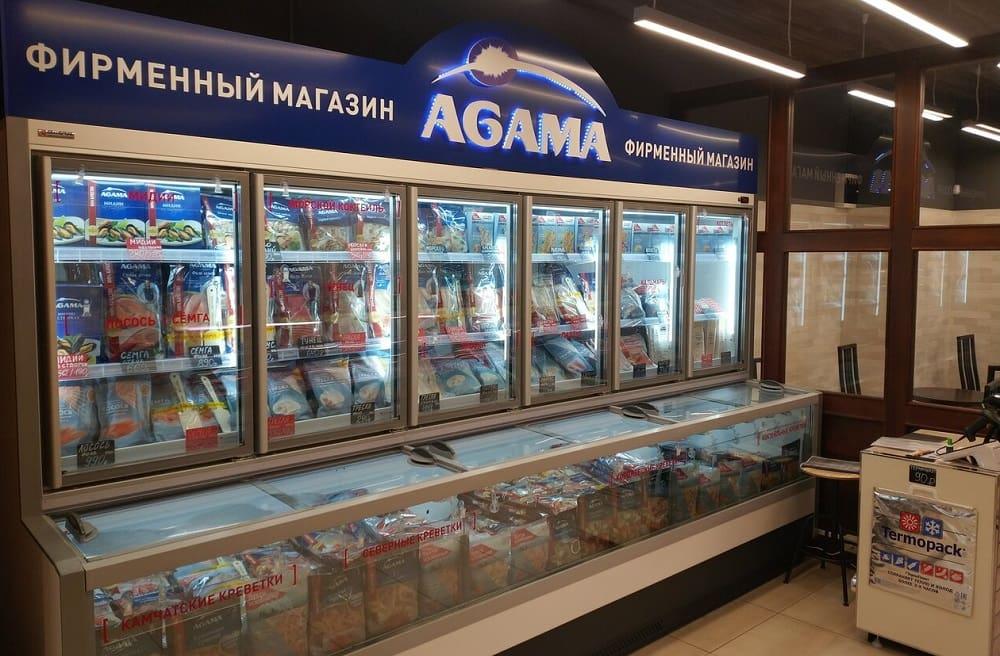 Магазин со свежей рыбой «Агама» в Москве