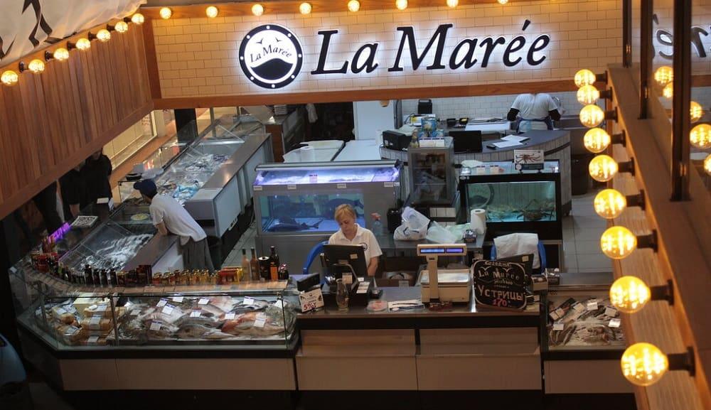 Магазин со свежей рыбой «La Marée» в Москве