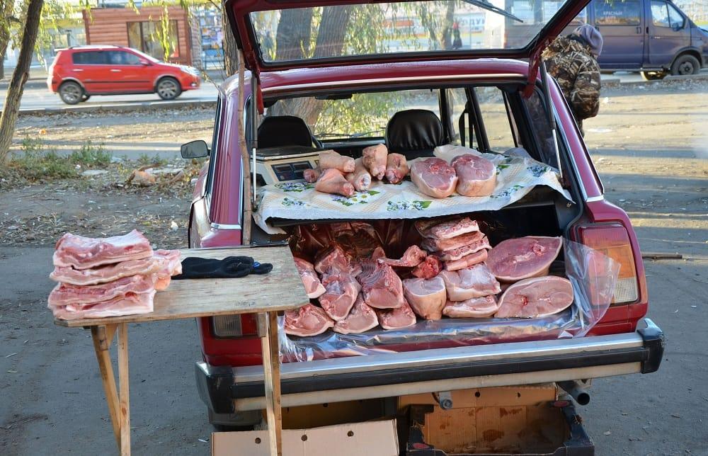 Мясо с машины