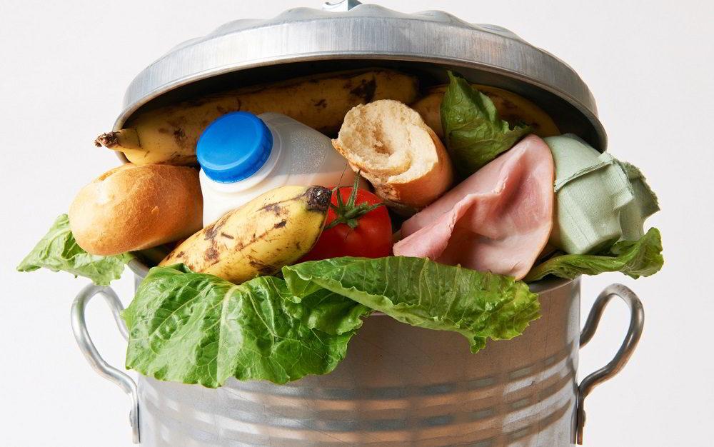 Продукты в мусорке