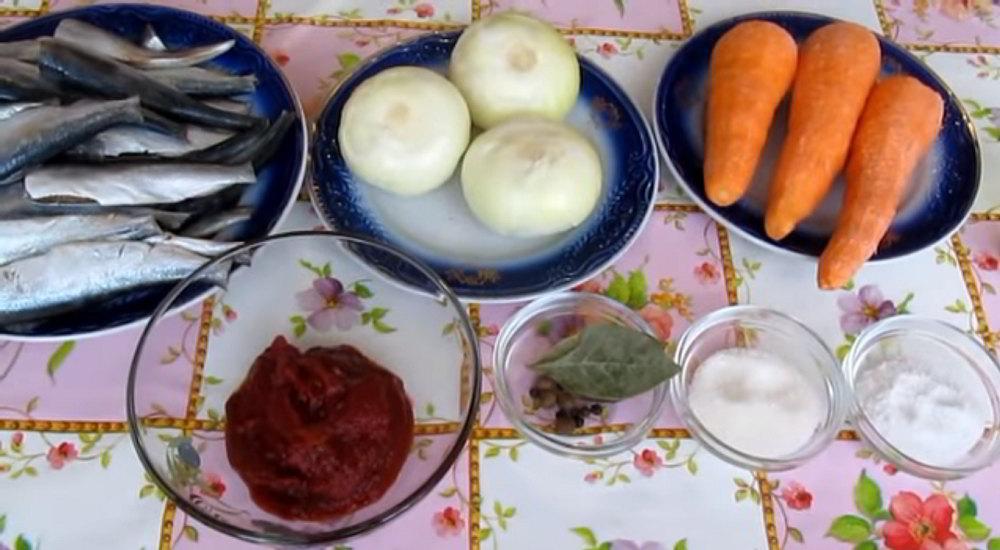 Состав рыбной тушёнки с овощами