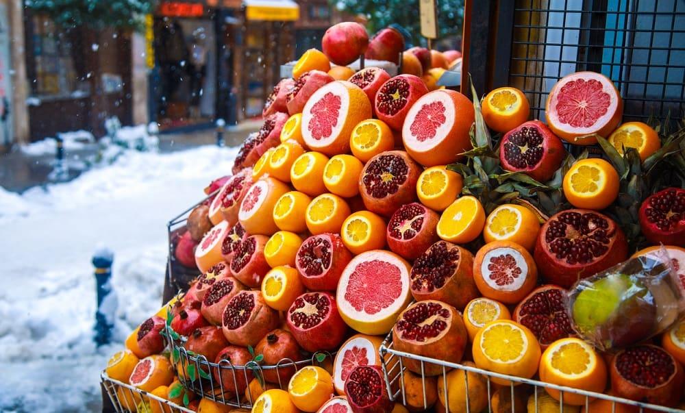 Свежие фрукты зимой