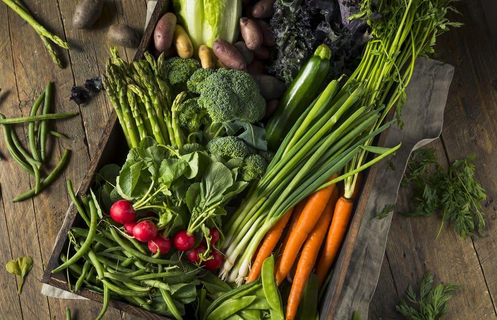 Свежие овощи весной