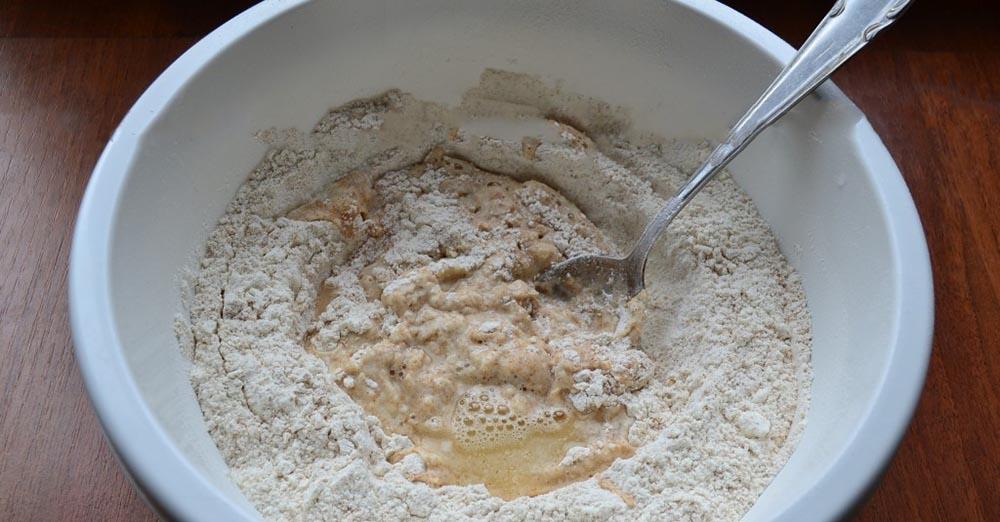 Тесто из цельнозерновой муки