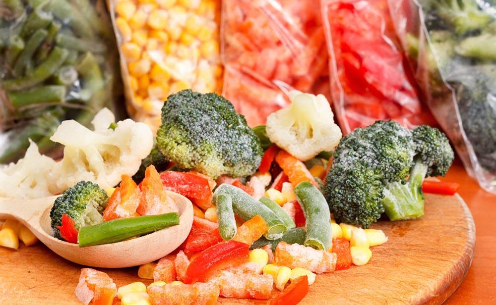 Выбор фермерских замороженных овощей