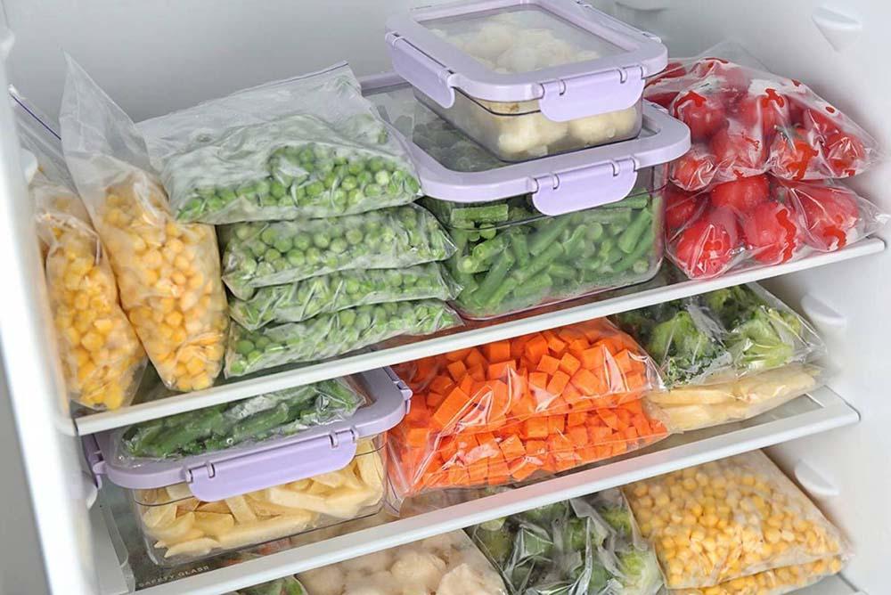 Заморозка овощей в пакетах