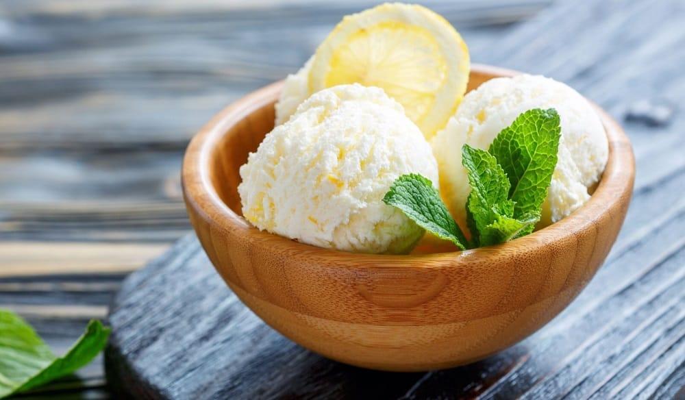 Домашнее лимонное мороженое