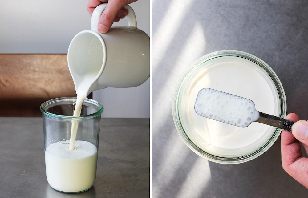 Молоко и сметана в банке