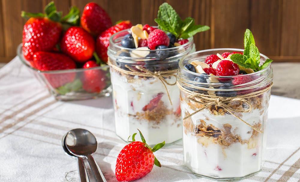Парфе с йогуртом