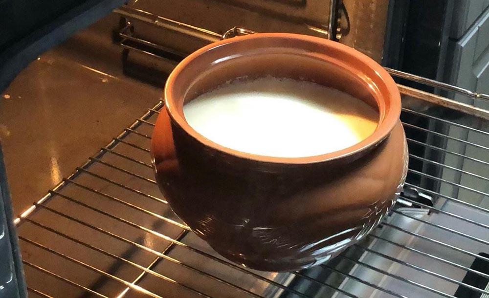 Молоко в духовке