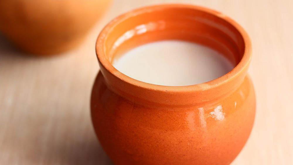 Топлёное молоко в горшочке для сливок